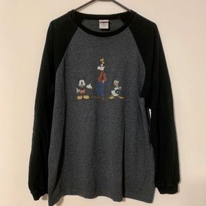 Disney Long Sleeve Mickey Donald Goofy 90s Shirt